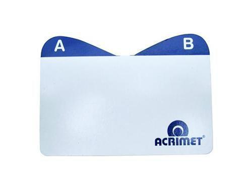 Indice Acrimet 630 0 de az para fichario de mesa cartao de visita