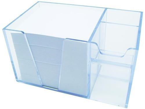 Organizador de mesa c/papel branco cor cristal 954 3