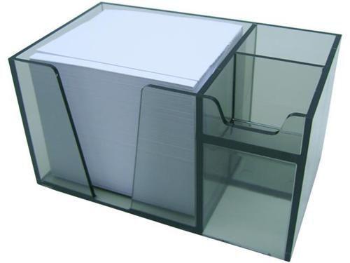 Organizador de mesa c/papel branco cor fume 954 1