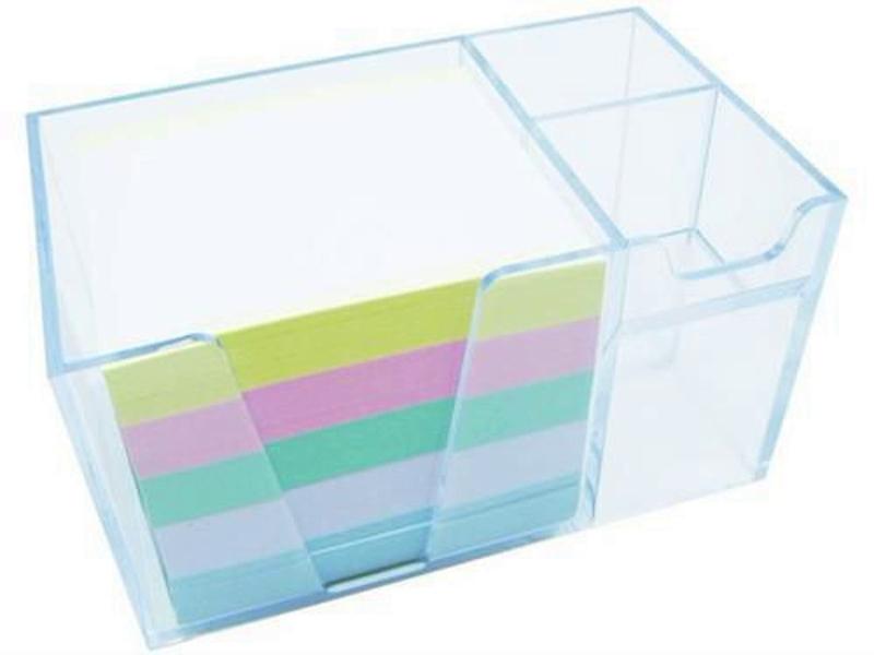 Organizador de mesa c/papel cores cor cristal 956.3