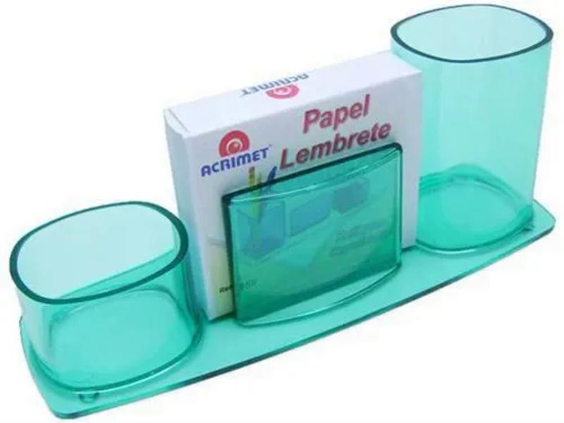 ORGANIZADOR DE MESA COM PAPEL VERDE CLEAR 740.5