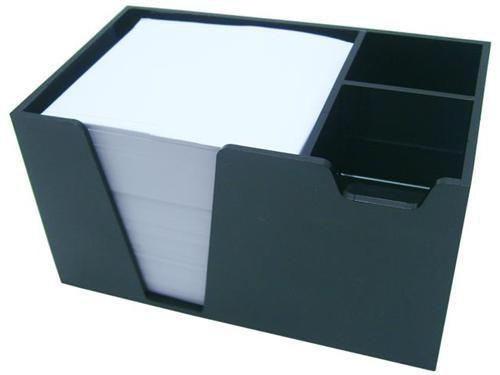 Organizador de mesa preto c/papel branco 954 4 Acrimet