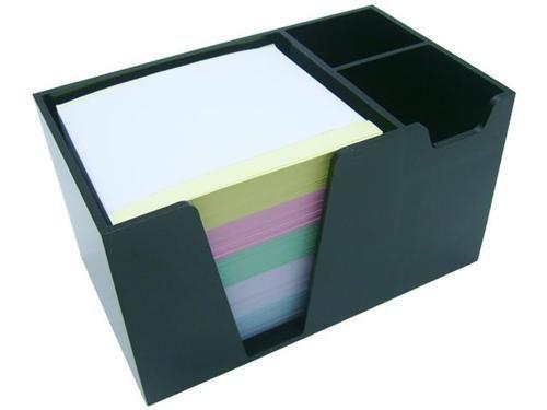 Organizador de mesa preto c/papel color 956 4  Acrimet