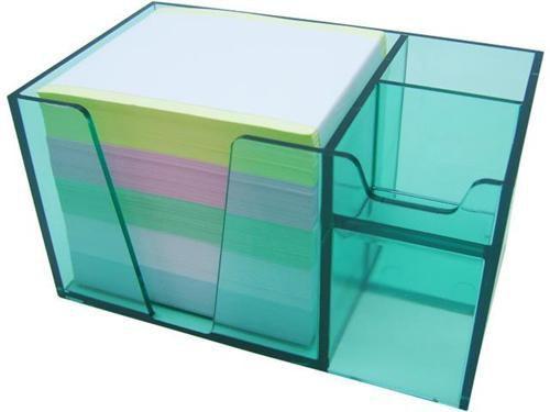 Organizador de mesa verde clear c/papel color 956.5   Acrimet