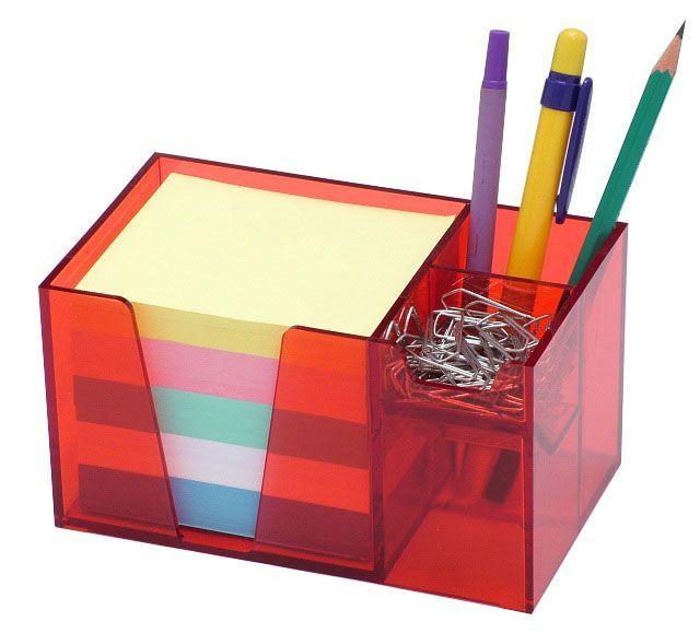 Organizador de mesa vermelho c/papel color 956.7   Acrimet