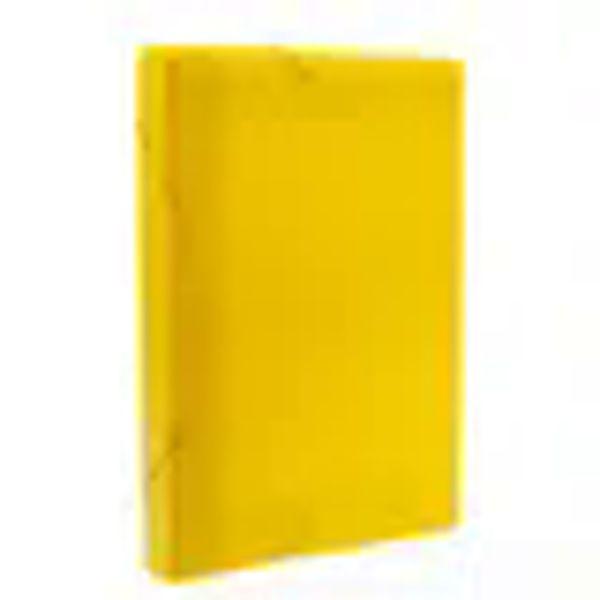 Pasta aba elastico polionda oficio 20mm lombo cor amarela pct com 10un.