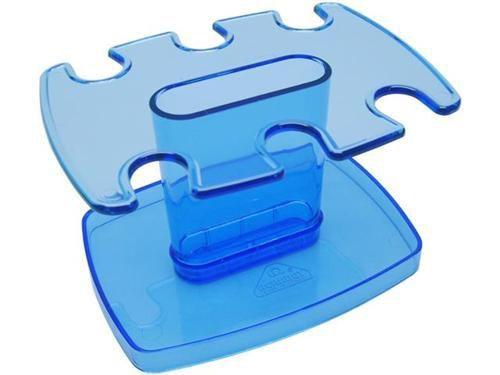 Porta carimbo modular p/6 lug. azul clear 806.2