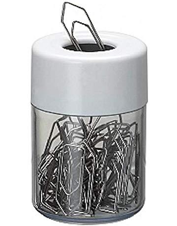 Porta clips magnetico Acrimet 936.3 com corpo cristal e tampa branca