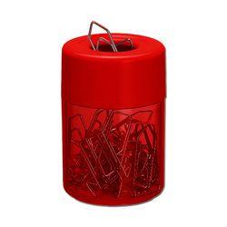 Porta clips magnetico Acrimet 936.8 com corpo vermelho clear e tampa vermelho citrus