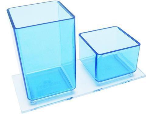 Porta lapis/clips azul clear 939 2   Acrimet