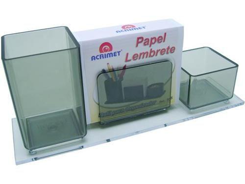 Porta lapis/clips/lembrete fume c/papel 947.1  Acrimet