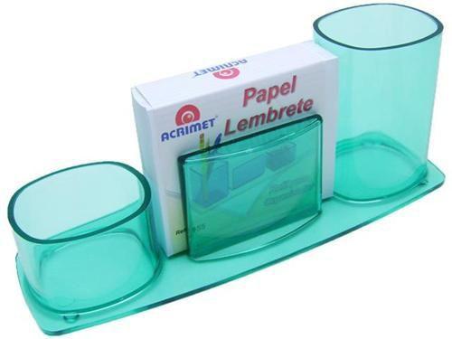 ORGANIZADOR DE MESA COM PAPEL VERDE CLEAR 740 5