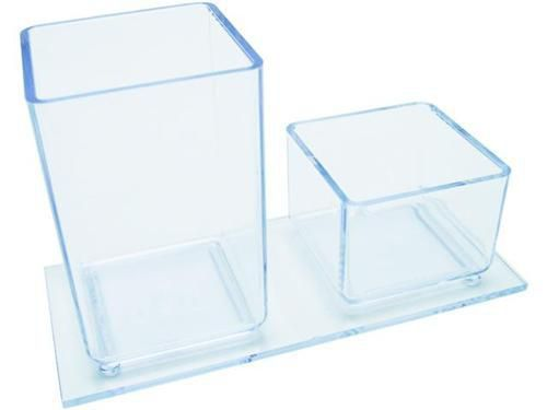 Porta Lapis e Clips cor cristal 939.3