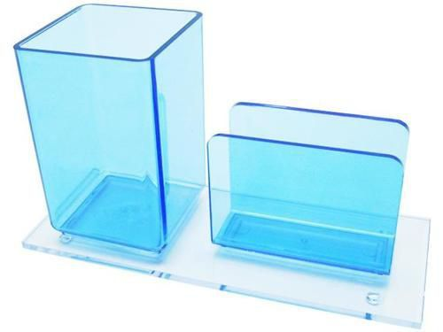 Porta lapis/lembrete azul clear 938 2  Acrimet