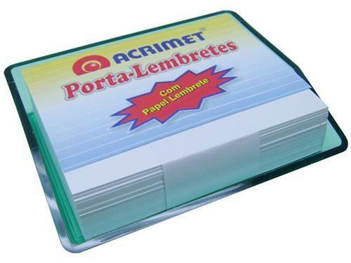 Porta lembrete verde clear c/papel 957.5 Acrimet