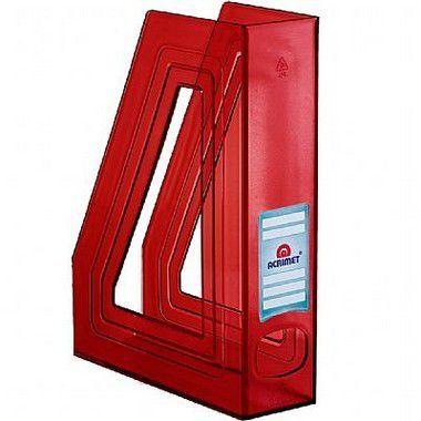 Porta revista Acrimet 278.3 classic vermelho pacote com 4 un