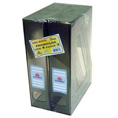 Porta revista Acrimet 278 1 classic fume pacote com 4 un