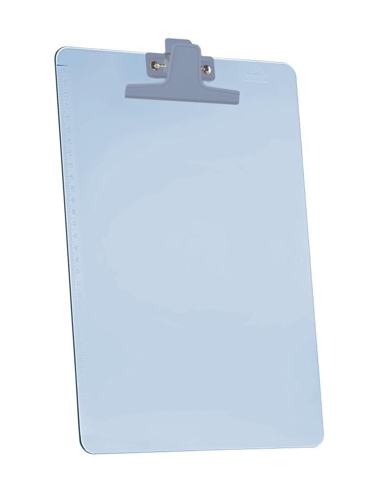 Prancheta Acrimet 151 2  premium com prendedor metalico smart meio oficio pequena cor azul
