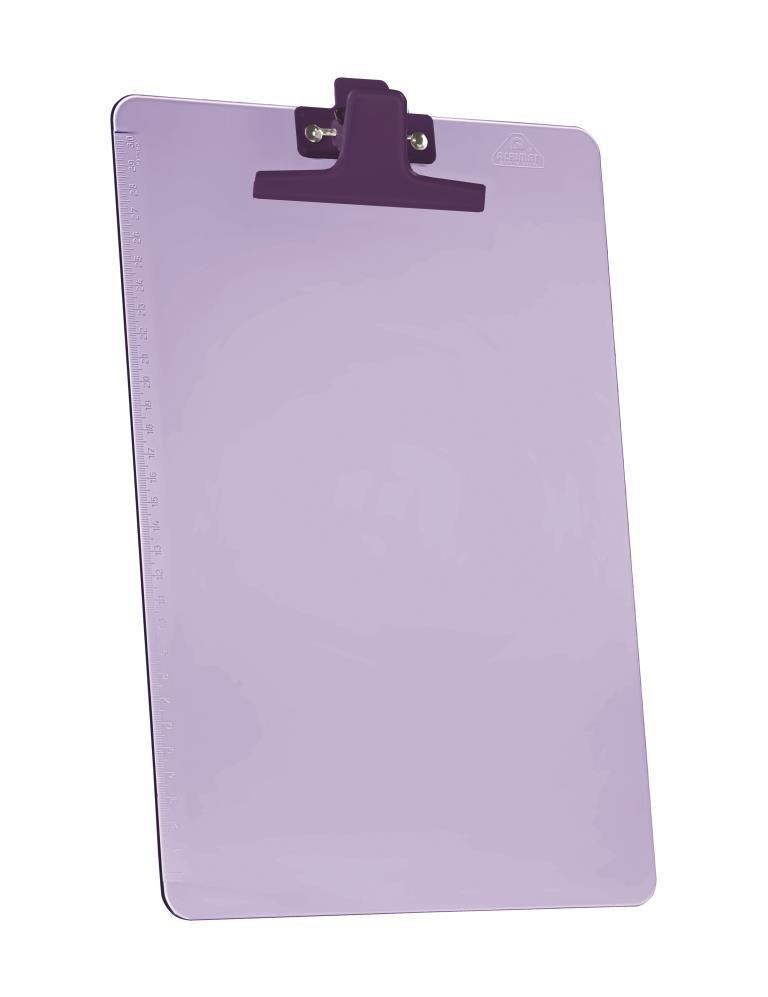 Prancheta Acrimet 151 7  premium com prendedor metalico smart meio oficio pequena cor lilas