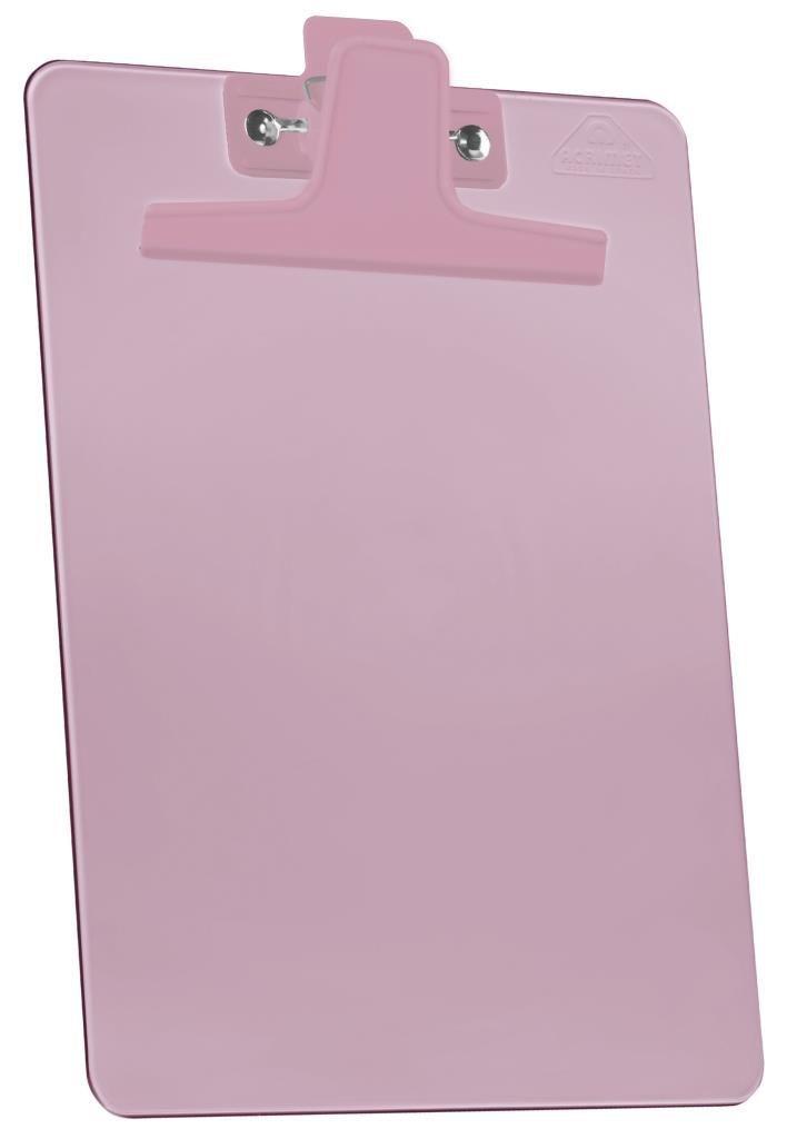 Prancheta 1/2 PP Rose clear Prendedor Metalico 150.5 Acrimet