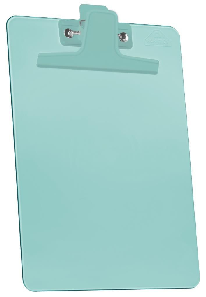 Prancheta 1/2 PP Verde clear Prendedor Metalico 150.4  Acrimet