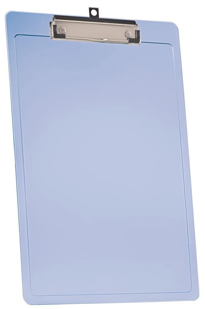 PRANCHETA A4 EXPORT C/PREND. WIRE CLIP AZUL CLEAR 138.2