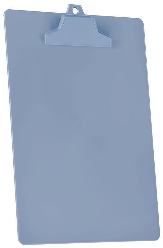 Prancheta Acrimet pop A4  em plastico poliestireno solido com prendedor plastico na mesma cor da prancheta 129 caixa com 12 unidades cor azul