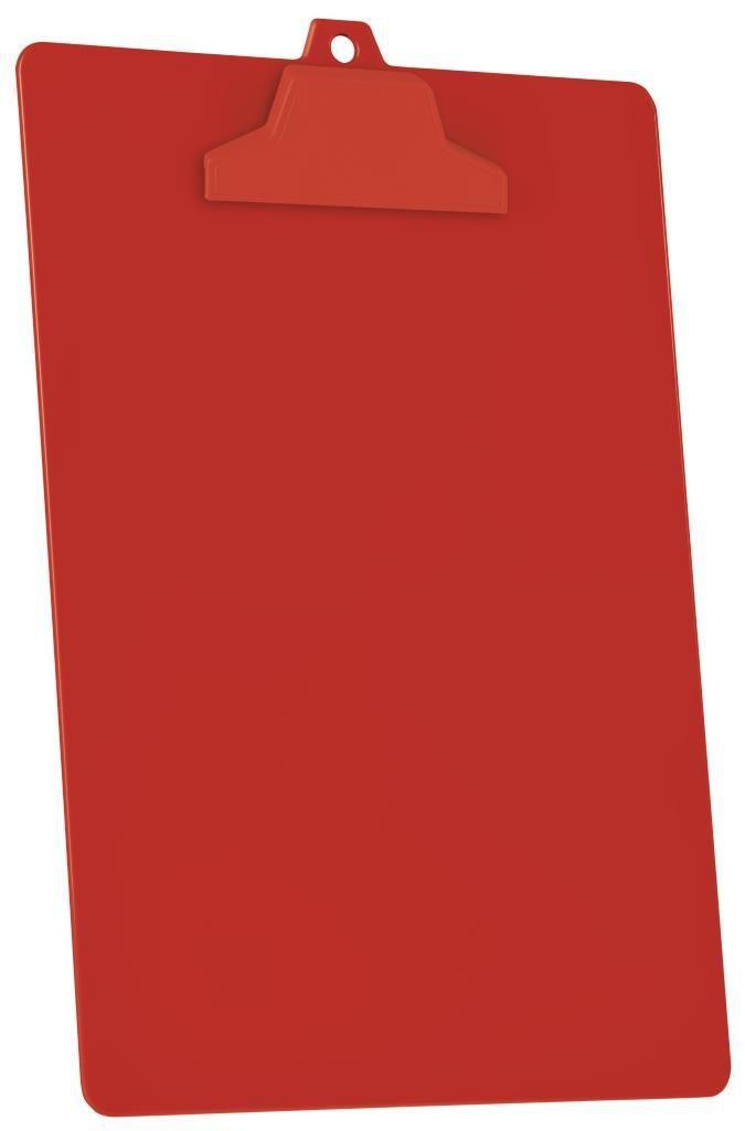 Prancheta Acrimet pop 129 6  pp com prendedor plastico A4 caixa com 12 unidades cor vermelha