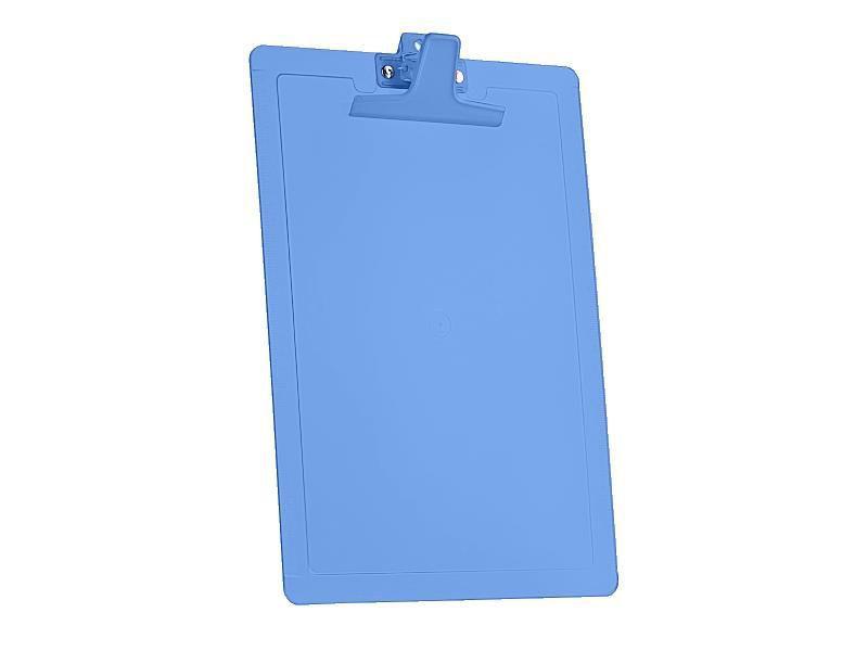 Prancheta Acrimet 135.2 oficio com reguas laterais cm e Polegadas cor azul clear