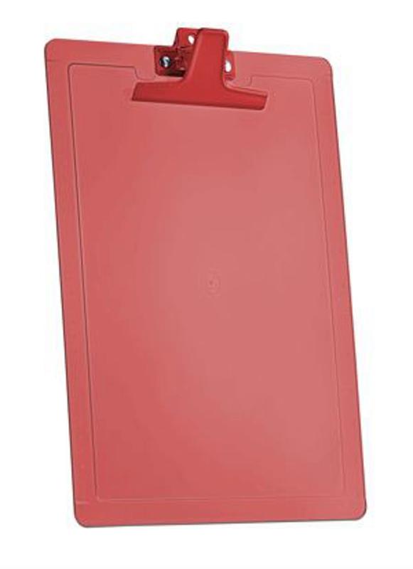Prancheta Acrimet 135.7 oficio com reguas laterais cm e Polegadas cor vermelho clear