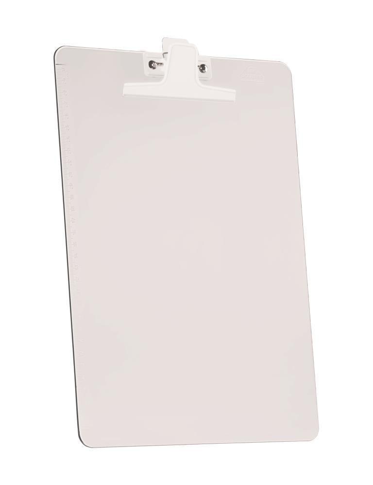 Prancheta Acrimet 151 3    premium com prendedor metalico smart meio oficio pequena cor cristal caixa com 12 unidades