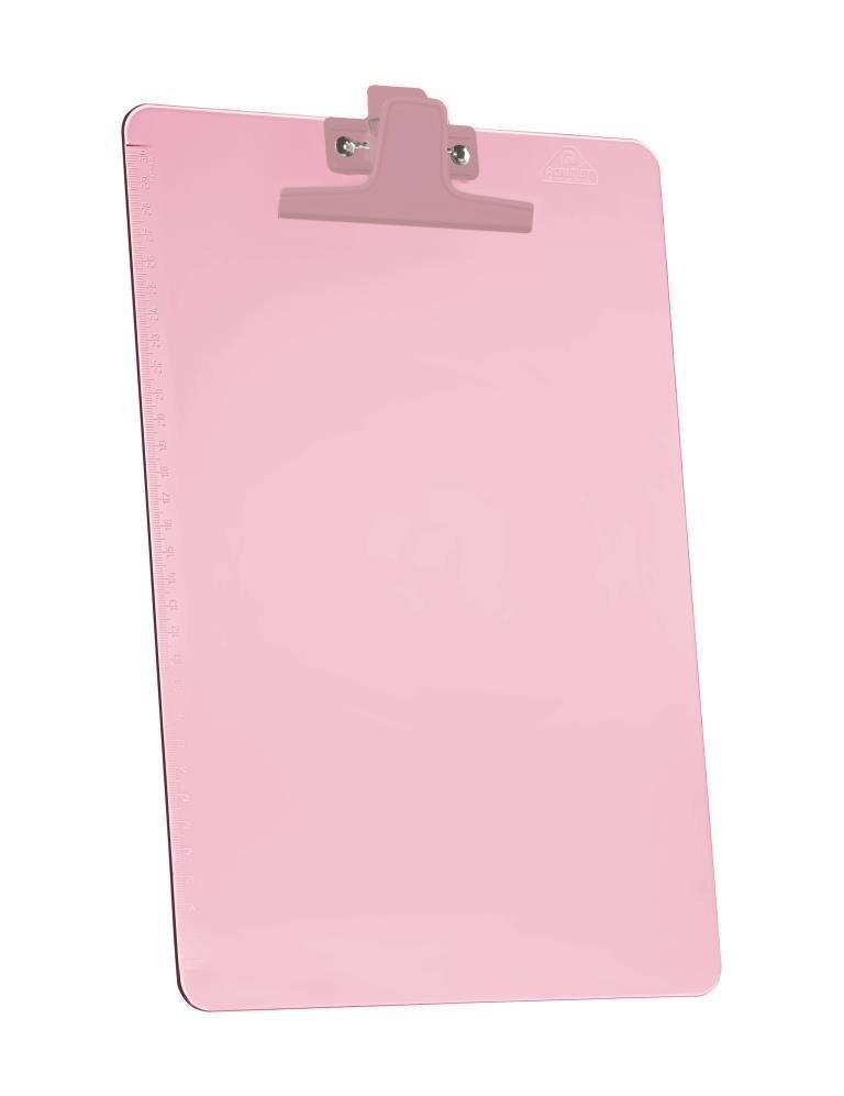 Prancheta Acrimet 151 5  premium com prendedor metalico smart meio oficio pequena cor rosa caixa com 12 unidades