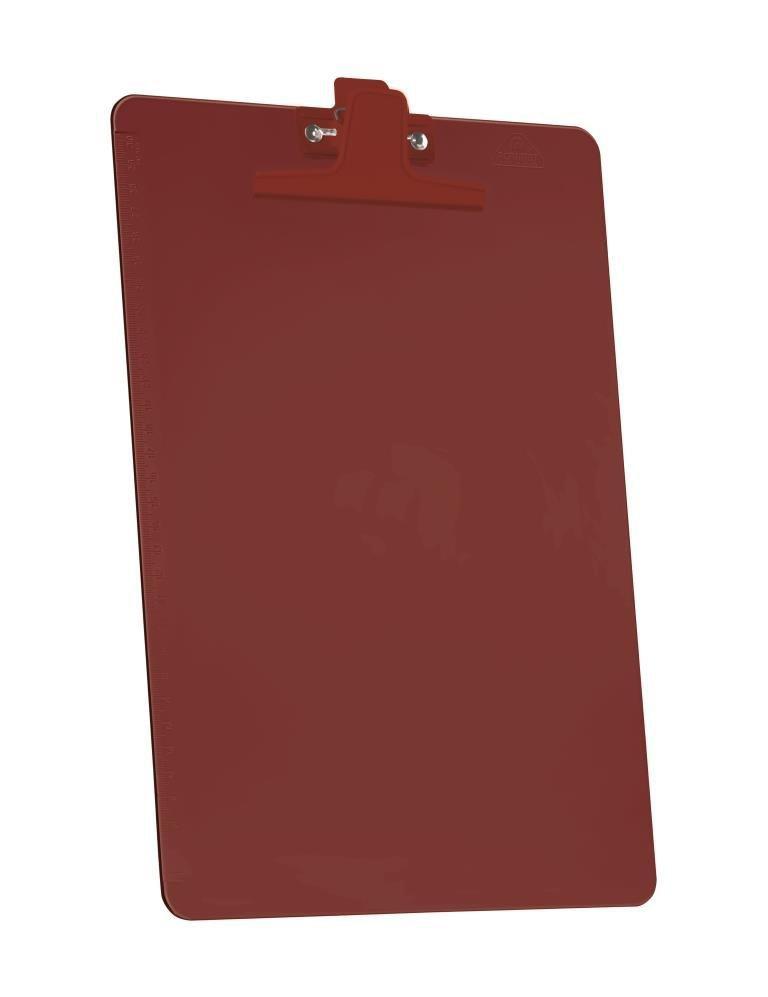 Kit Prancheta Acrimet 151.6  premium com prendedor metalico smart oficio cor vermelha
