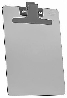Kit com 12 Prancheta Acrimet 920.1 premium prendedor metalico meio oficio pequena na cor fume