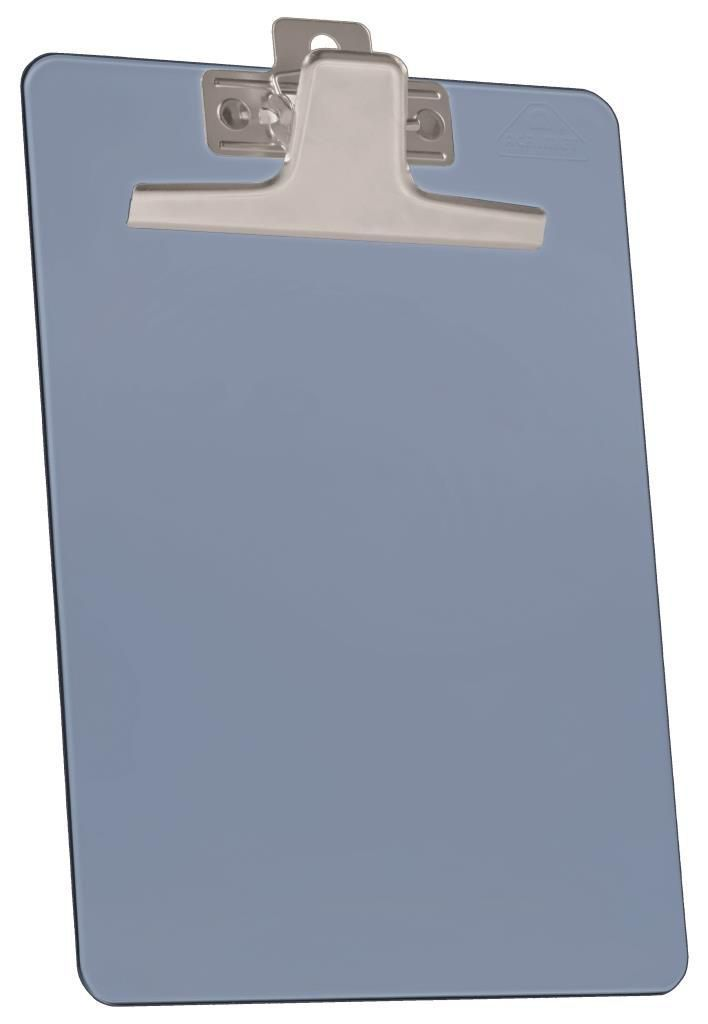 Kit com 12 Prancheta Acrimet 920.2  premium prendedor metalico meio oficio pequena na cor azul clear