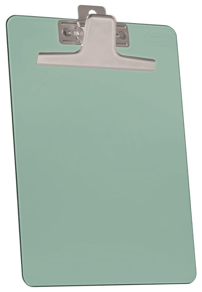 Prancheta Acrimet 920.4 premium prendedor metalico meio oficio pequena na cor verde