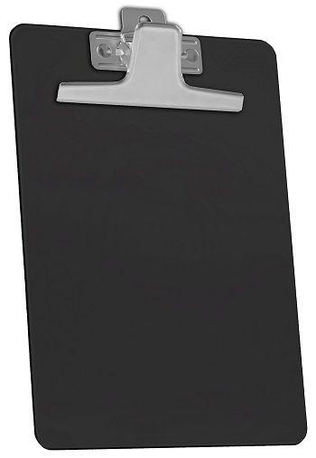 Kit com 12 Prancheta Acrimet 920.5 premium prendedor metalico meio oficio pequena na cor preta