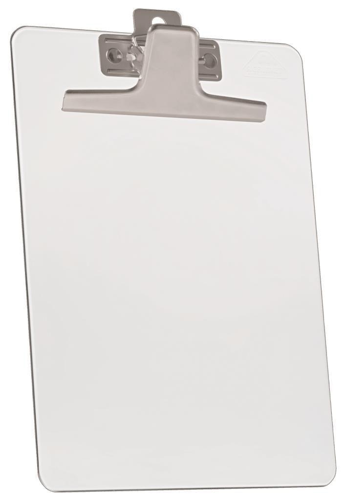 Kit com 12 Prancheta Acrimet 930.3  premium prendedor metalico oficio na cor cristal