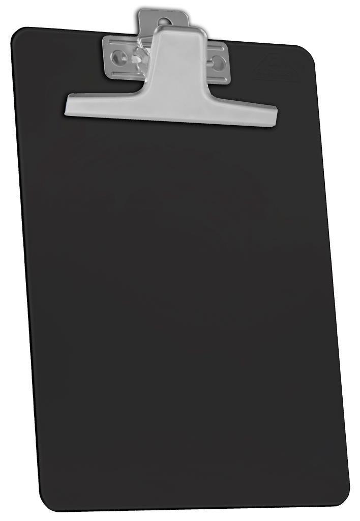 Kit com 12 Prancheta Acrimet 930.5  premium prendedor metalico oficio na cor preta