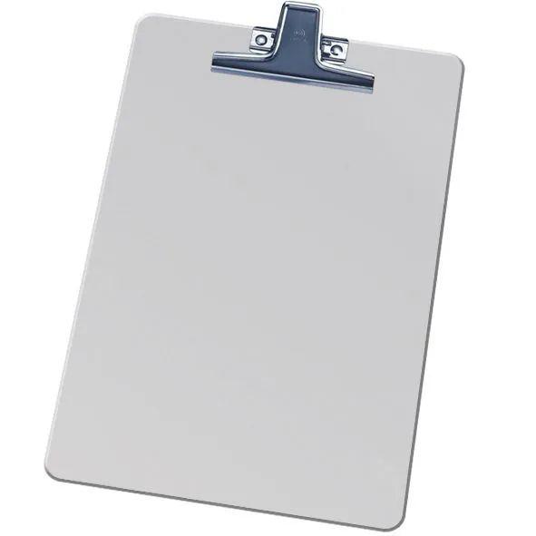 Prancheta Acrimet de aluminio com prendedor Inox oficio 123 0 cx com 15 unidades