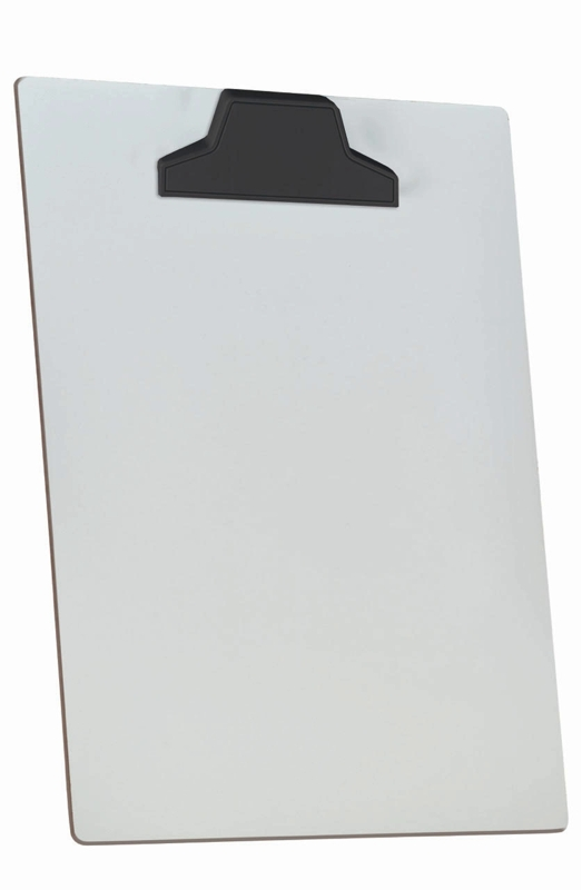 Prancheta Acrimet de mdf branco A4 prendedor plastico 112.0