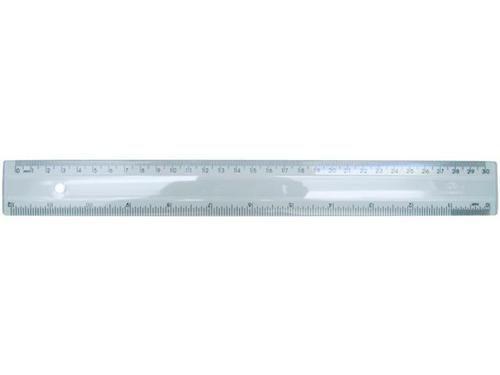 Regua em poliestireno 30cm/12 pol. cristal 581.3 Acrimet
