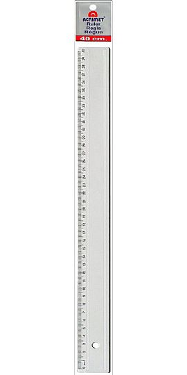 Regua em poliestireno 40cm cristal 514 0 Acrimet