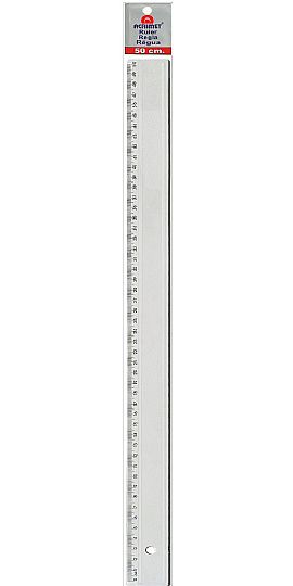 Regua em poliestireno 50cm cristal 515.0 Acrimet