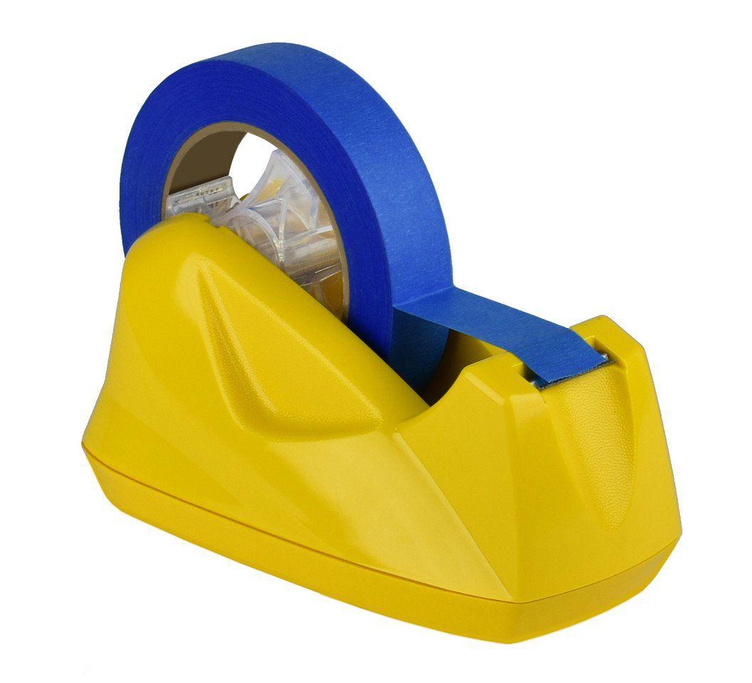 Suporte Acrimet 271.AC  para fita adesiva grande cor amarelo