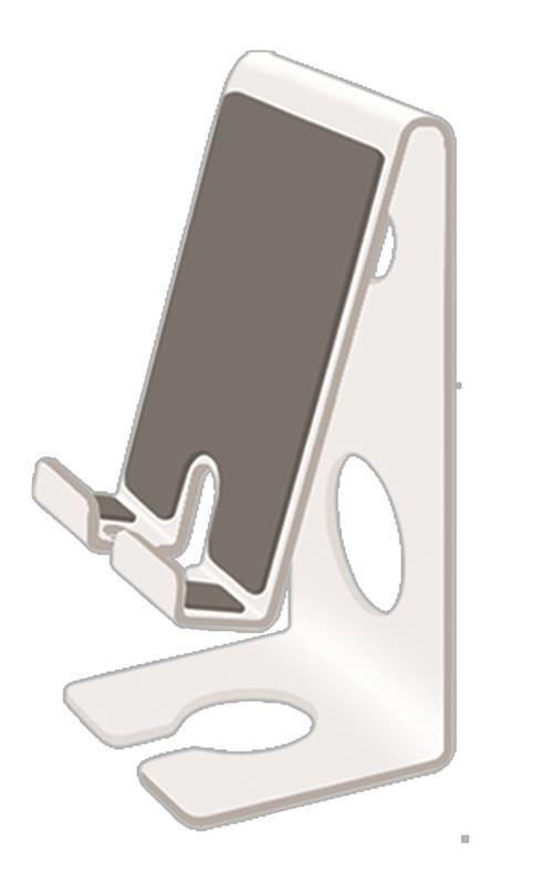 Suporte Acrimet para celular Smartphone Fixação Parede ou Mesa Branco 313 3