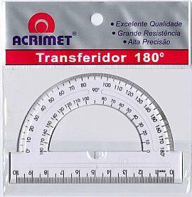 Transferidor Acrimet 551 0 em poliestireno 180º cristal