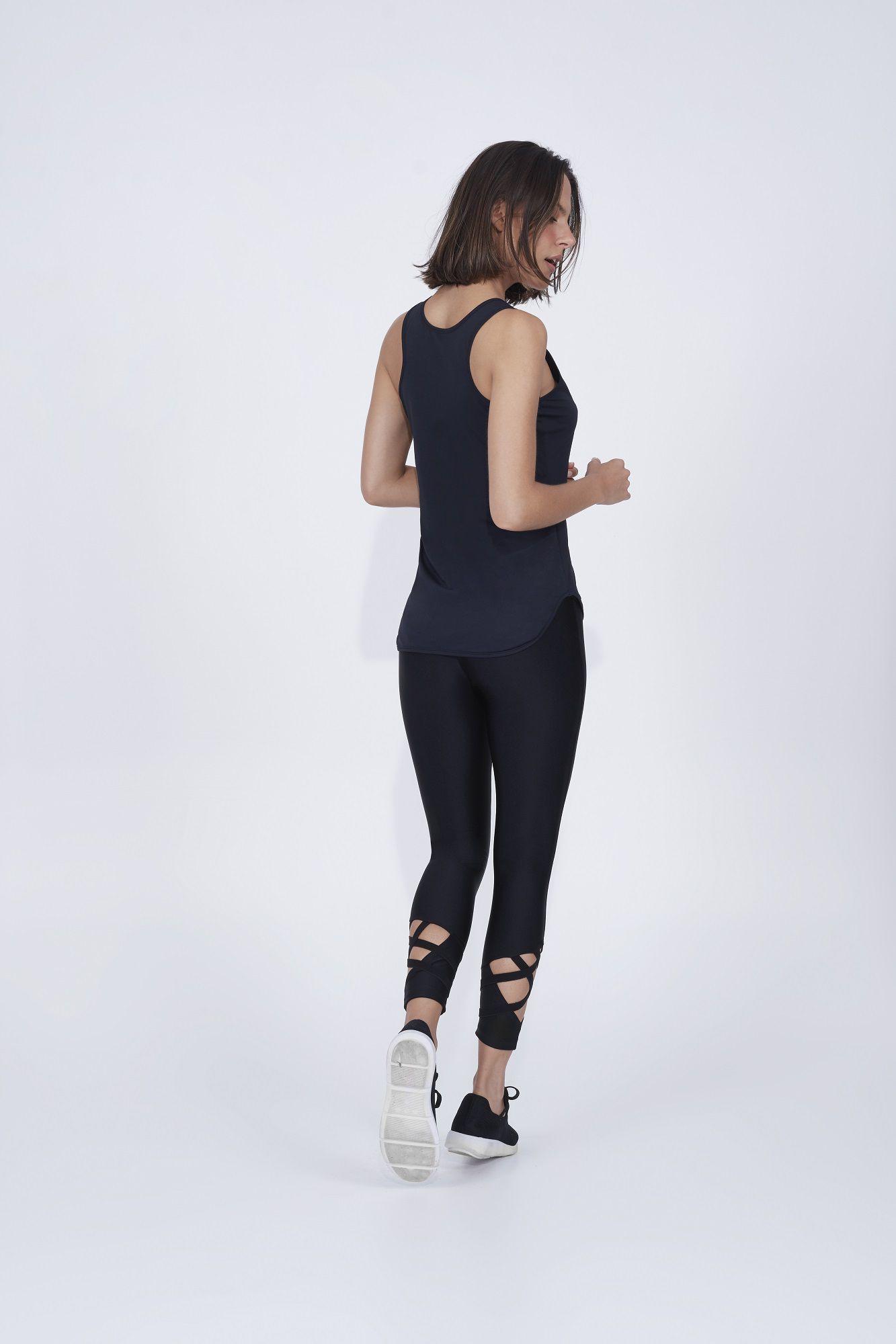 Legging atlanta com elasticos trançados Alto Giro