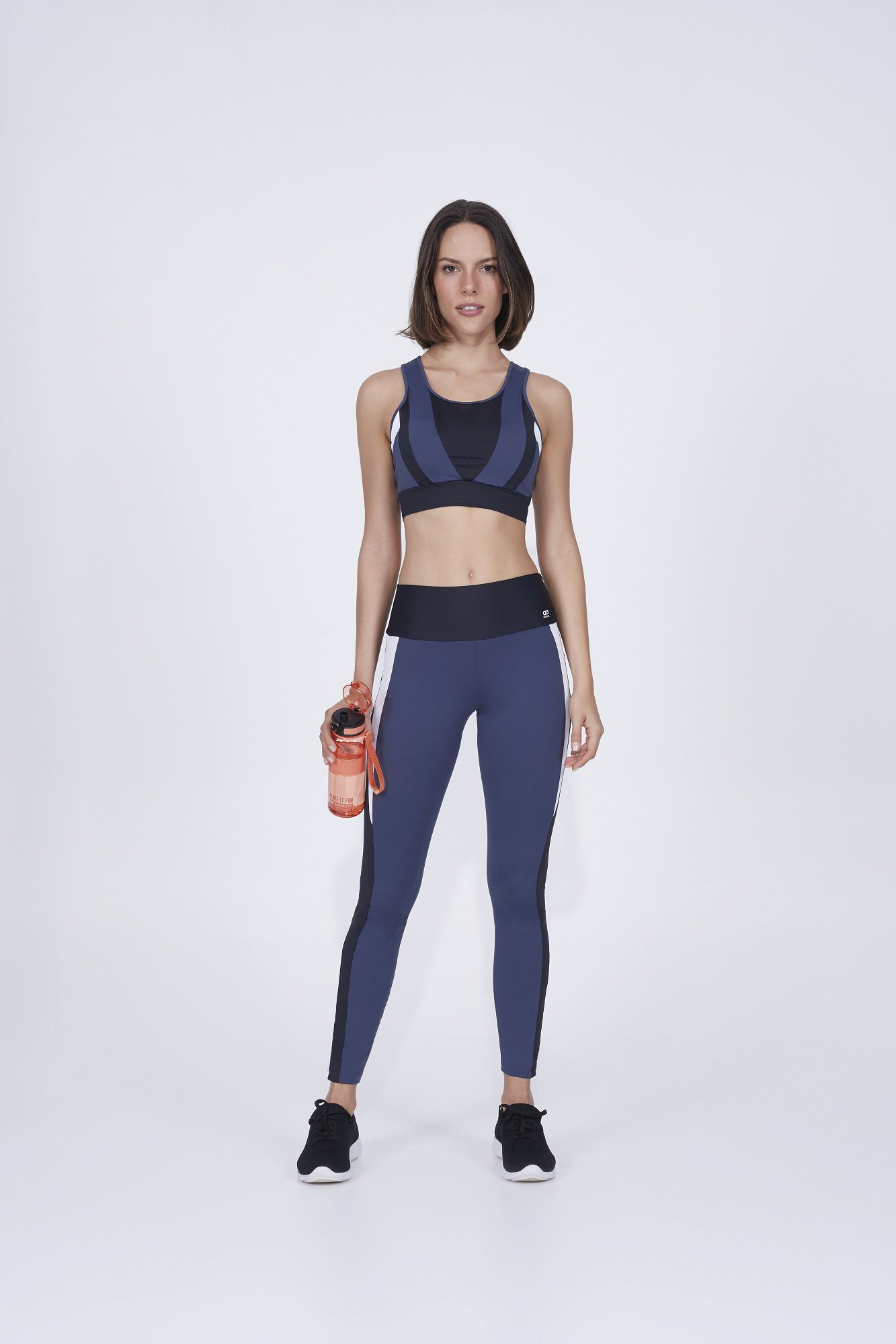 Legging body tex breeze recortes e laser Alto Giro