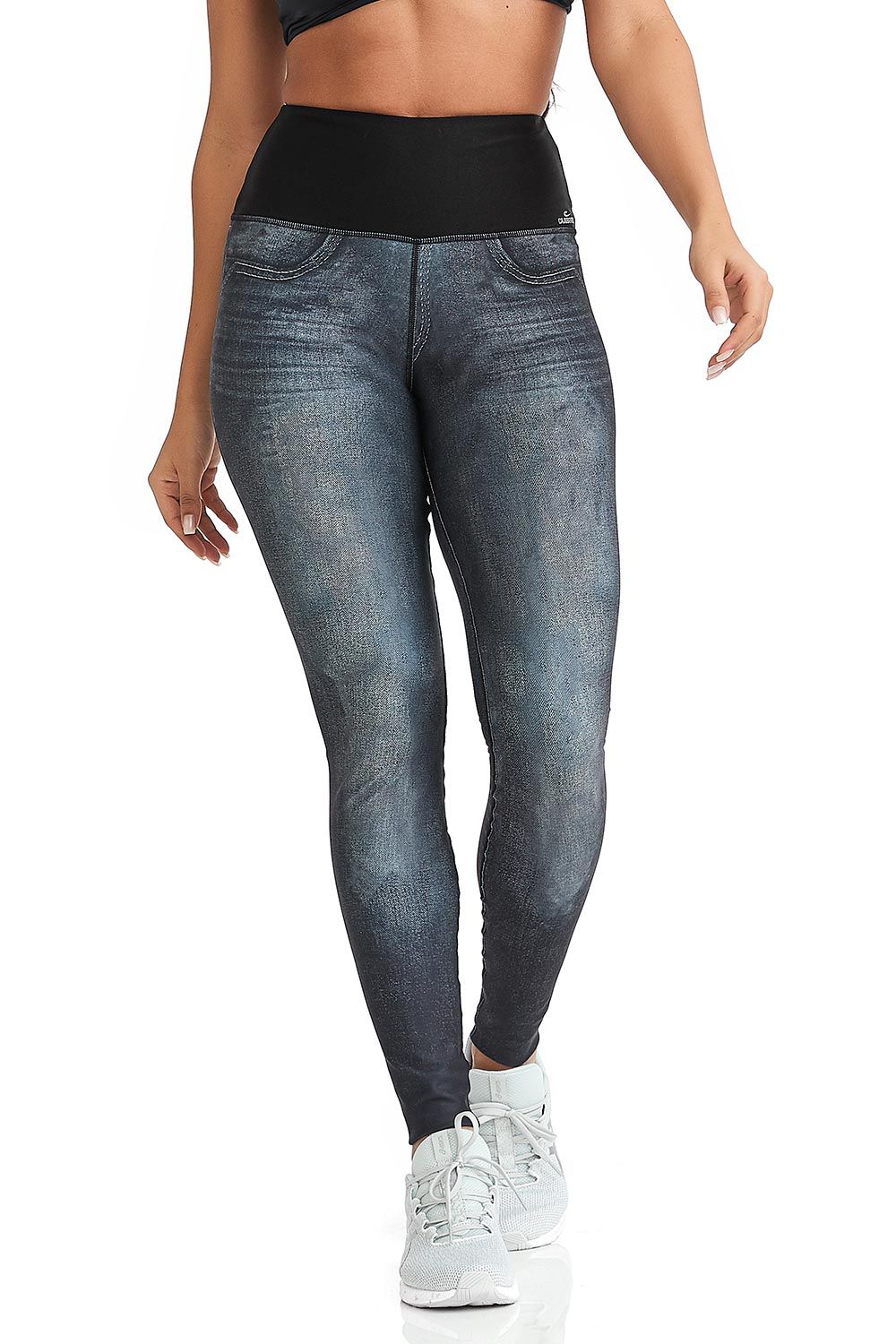 LEGGING DOUBLE FACE MOTION JEANS CAJUBRASIL